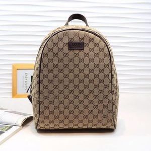 Tan Gucci Canvas Backpack